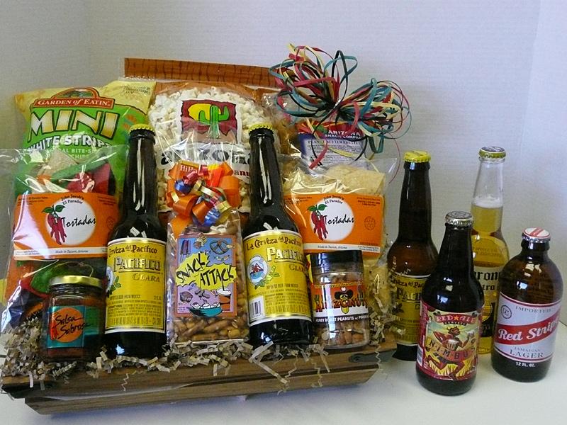 Wine spirits beer gift basket creations snack attack beer basket negle Gallery