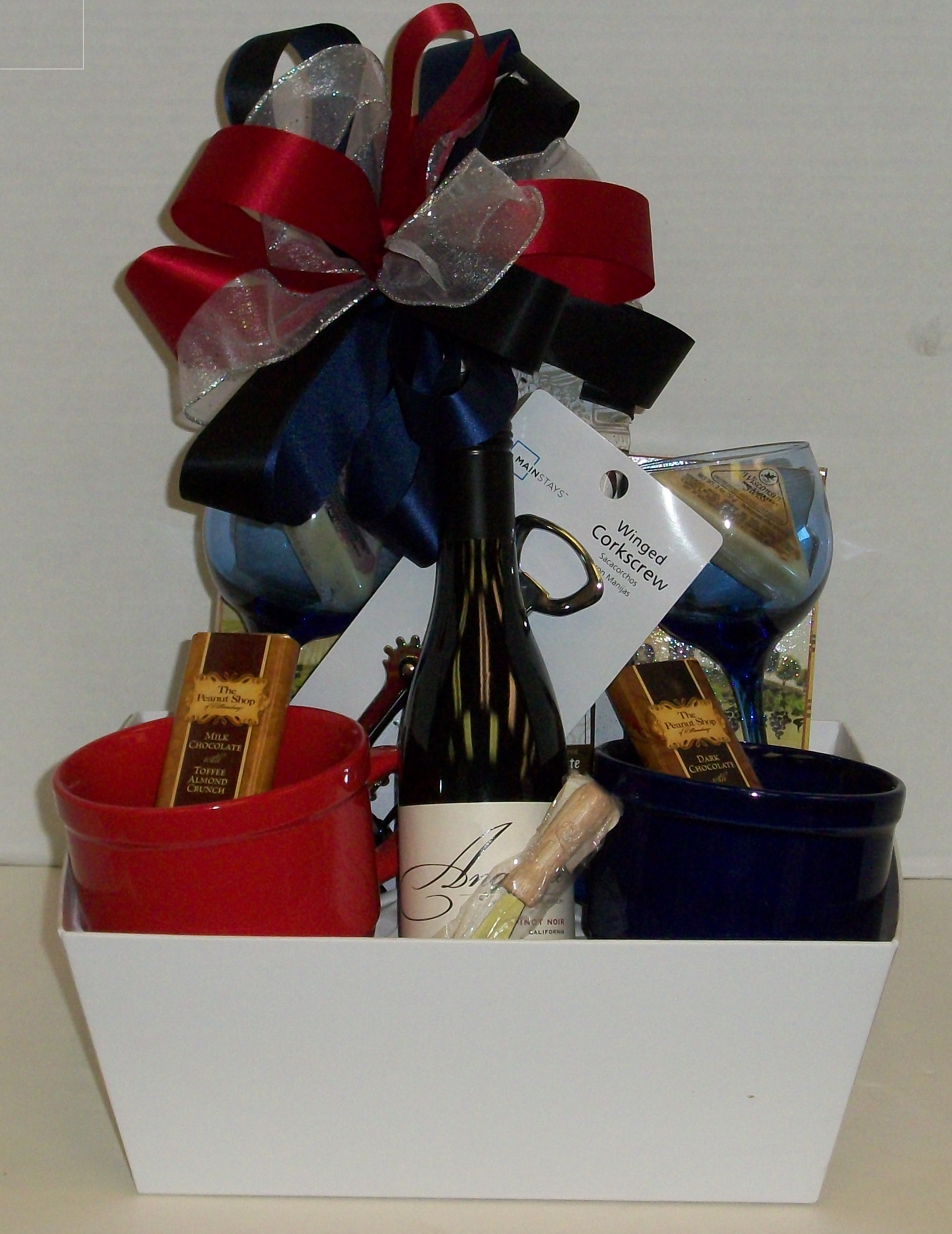 Gift basket creations custom baskets market trays for every date night delight negle Choice Image
